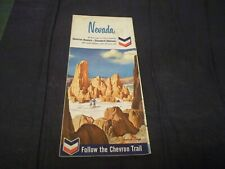 1965 CHEVRON Standard Oil Road Map Nevada Cathedral Gorge