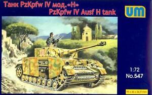 UM-MT Models 1/72 PANZER IV Ausf H German WWII Medium Tank