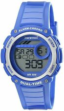 Timex Unisex Marathon Indiglo Digital Alarm Blue Rubber Sports Watch TW5K85000