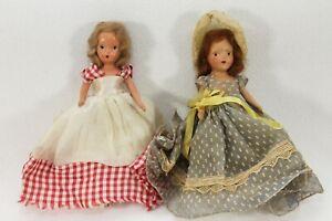 "1940's Kerr & Hinz K & H Bisque Storybook Doll 7.5"" & 6.5"" Daisy? German?"