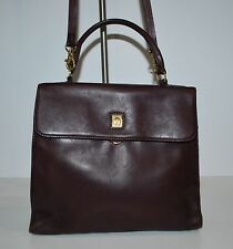 Etienne Aigner Ladies Leather Shoulder bag Purse Brown Flap Front Very Nice Bag