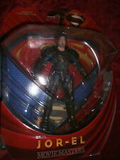 MOVIE MASTERS SUPERMAN  JOR - EL  ACTION FIGURE LOT  MAN OF STEEL