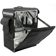 Mochila isotérmica 35 x 49 x 25 cm negra para entrega de pedidos de comida en