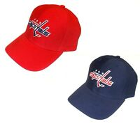 Reebok Washington Capitals Hat Structured Adjustable Cap, Choose Team Colors