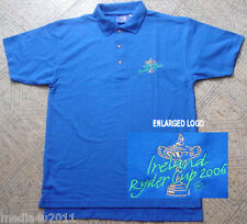 Golf Irlande Ryder Cup 2006 Bleu Polo Shirt medium NEUF