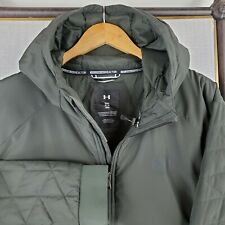 NWT UNDER ARMOUR Size 3XL ColdGear Hybrid Army Green Hooded Jacket Coat New $170