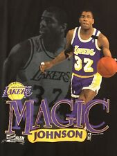 Vintage 90s Los Angeles Lakers Magic Johnson T-Shirt Salem Sportswear