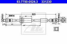 Bremsschlauch - ATE 83.7750-0524.3