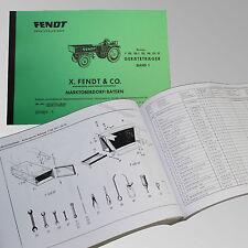 Fendt Ersatzteilliste für Geräteträger F 220, 220/1, 225, 230, 231 GT  231001-1