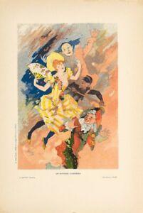 LES ARTS 1897 JULES CHERET LES AFFICHES ILLUSTREES  ORIGINAL STONE LITHOGRAPHS 4