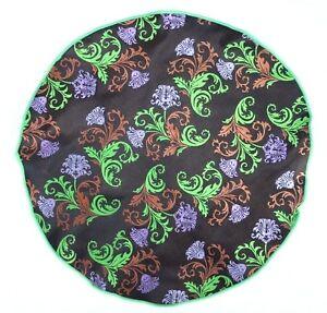 Lord R Colton Masterworks Pocket Round Positano Brown Floral Silk $75 Retail New