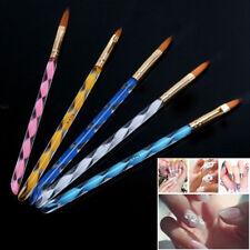 5pcs acrylic 3d painting drawing uv gel diy brush pen nail tools nail art set GN