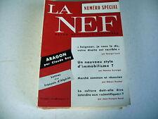 revue LA NEF n° 22 - 1958 aragon lettres d'un français d'algérie