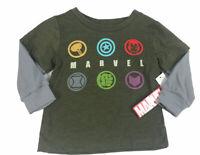 NWT Boys 18M Infant Marvel Hulk Iron Man Spider-Man Short Sleeve T-Shirt Tee Top