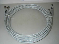 """3/8"""" Vinyl Coated Aircraft Cable Wire 14400Lb Break Strength (Six 12Ft Sections)"""