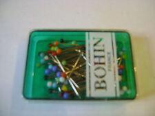 boite à épingles tête de couleur marque BOHIN environ 80 tête verre 0,60x30mm