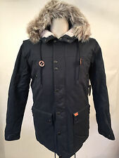 Globe Men's Puffy Parka Hooded Jacket Hobson Ink Size M NWT Faux Fur Sherpa