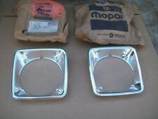 NOS Mopar 1974-1977 Dodge Van B100 B200 B300 Headlight Door Surround Bezels