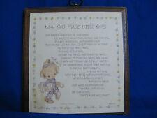 "Vintage - Betsey Clark Plaque - ""Why God Made Little Boys"" Springbok 600DE1020"