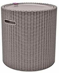 Multi Purpose Keter Cool Garden Stool, Storage, Table, Furniture, 39L