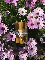 9 piezas Velas naturales 100% cera de abejas velas enrolladas a mano 10cm x 2cm