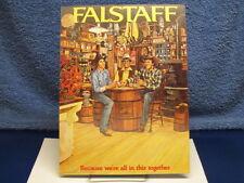 "1975 Falstaff Beer Promo Store Display ""Pos"" 4 Color Poster Unused"