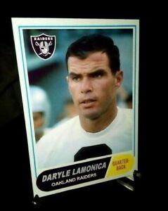 Oakland Raiders Daryle Lamonica 1968  Custom Handmade Card Blank Back Alternate