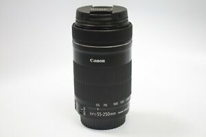 Canon EF-S 55-250mm f/4.0-5.6 IS STM Lens -Pristine UV filter from day 1