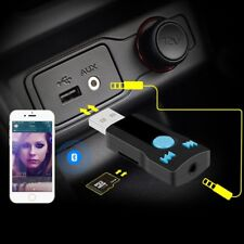 Wireless Bluetooth Car Kit AUX Audio USB Bluetooth Receiver Adapter Mic SD C2R5