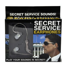 Secret Service Agent Ear Buds Music Head Phones Brand NEW Sealed