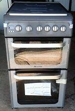 HOTPOINT HUG52G DOUBLE OVEN 50CM GAS COOKER GRAPHITE , ROCHDALE