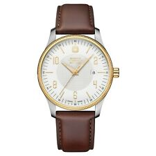 Wenger Swiss Military 01.9041.215C Terragraph Two-Tone Brown Band Men's Watch