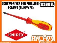 KNIPEX 982502SL - SCREWDRIVER FOR PHILLIPS® SCREWS (SLIM TYPE) - 212MM - PZ 2
