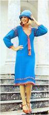 Ladies' 4 Ply Smock-style Dress Vintage Knitting Pattern 10071