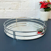 Wire Metal Frame Silver Glass Mirror Wedding Table Centerpiece Candle Plate Tray