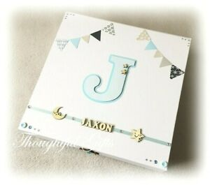 Personalised Large New Baby Boys Girls Keepsake Memory Box Christening Gift