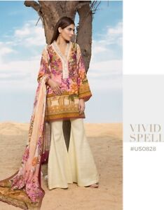 Pakistani SAPPHIRE KADDAR 3 Piece Suit With Soft Shawl GREAT CONDITION Size XL