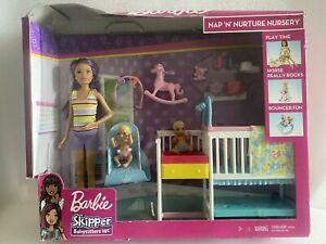 Barbie Skipper Nap n' Nurture Nursery Playset GFL38