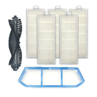 Main brush+5*HEPA Filter+Primary Filter For ILIFE A4S Robotic Vaccum Cleaner US