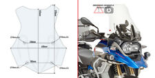 CUPOLINO TRASPARENTE BMW R 1200 GS 16 > 18 GIVI