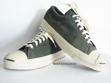 Vintage Converse Jack Purcell Made in USA size 10 Green Suede Low Sneakers Shoes