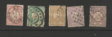 Pays-Bas 1876/94 5 timbres oblitérés  /T2591