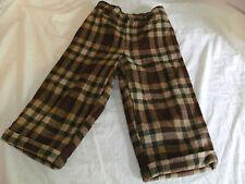 Baby Gap thermal pants- lined wool 2tg brown and tan 4 pocket
