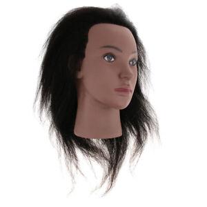 Black Afro Practice Training Head Salon Model Hair Styling Mannequin Doll