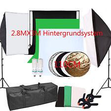 Fotostudio Set Hintergrundsystem Softbox Dauerlicht Lampe Fotografie Hintergrund
