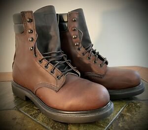 """Mens Classic RED WING SHOES Size 8.5 E Style 2204 Brown 8"""" Work Boot, Super Sole"""