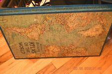 1963 National Geographic Atlas Of The World -Antique Hardcover in Slipcase Great