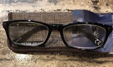 "NWT +2.75 Foster Grant Readers ""Roman"" Brown Reading Glasses w/ Soft Case"