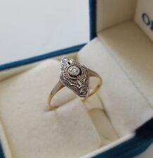 Artdeco Ring aus 585er Gold Ring  Antikring mit Diamant/Brillant