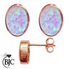 Pendientes de joyería natural de oro rosa